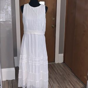 Just...Taylor white lace and eyelet maxi dress!